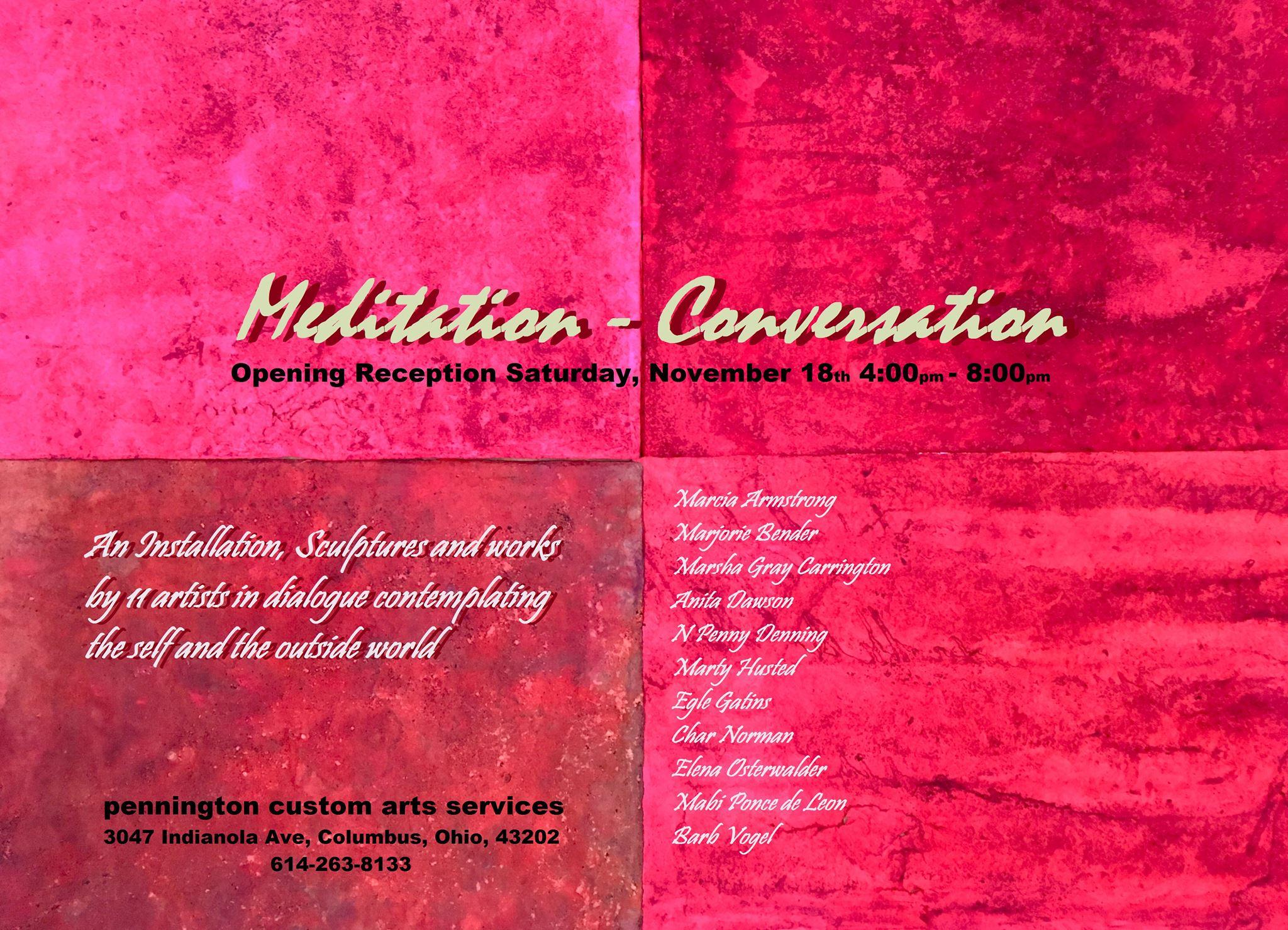 Meditation / Conversation: an Exhibit of 11 Women Artists